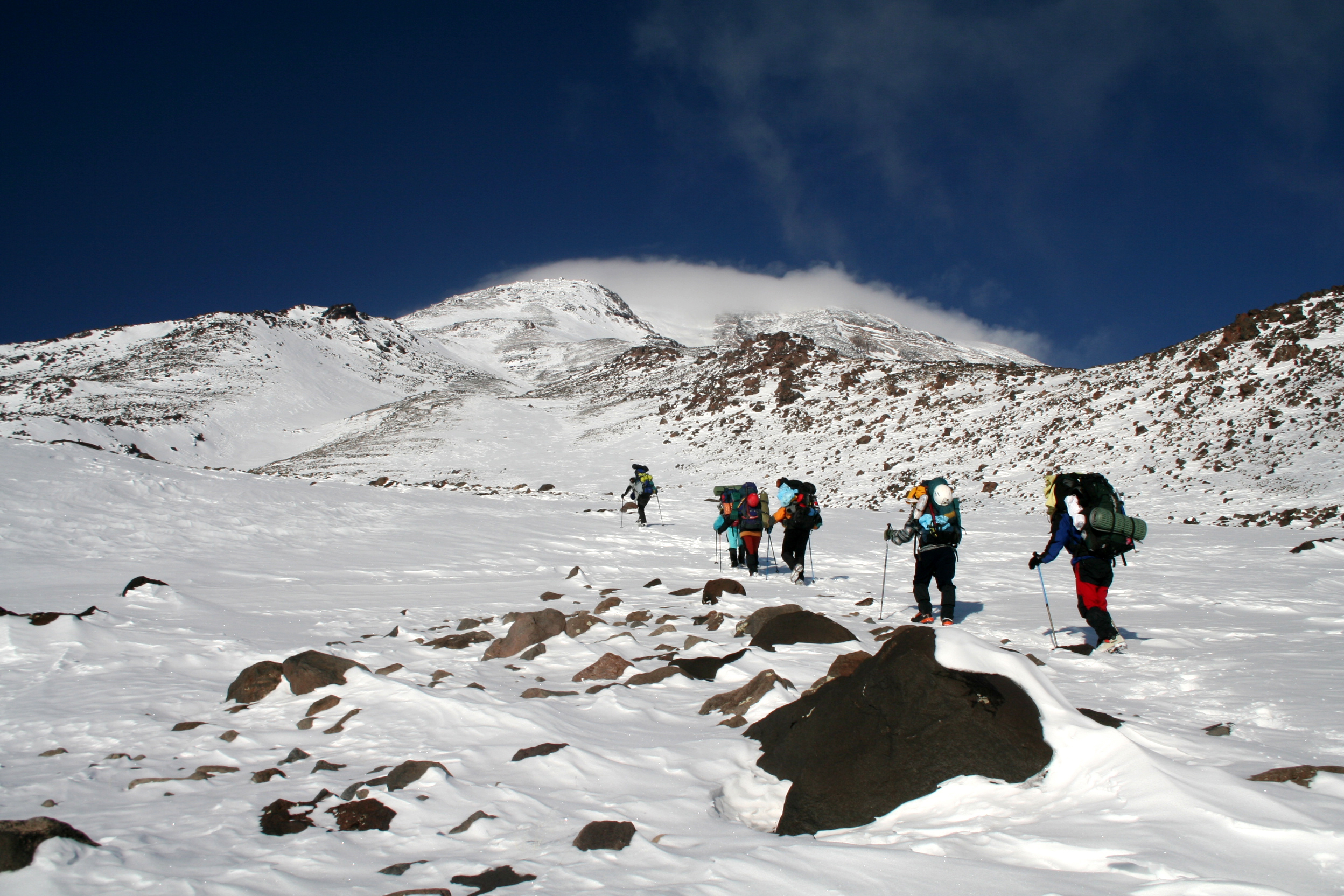 Mountaineers,Climbing,At,Mount,Agri,(ararat),In,Turkey.,Mount,Agri